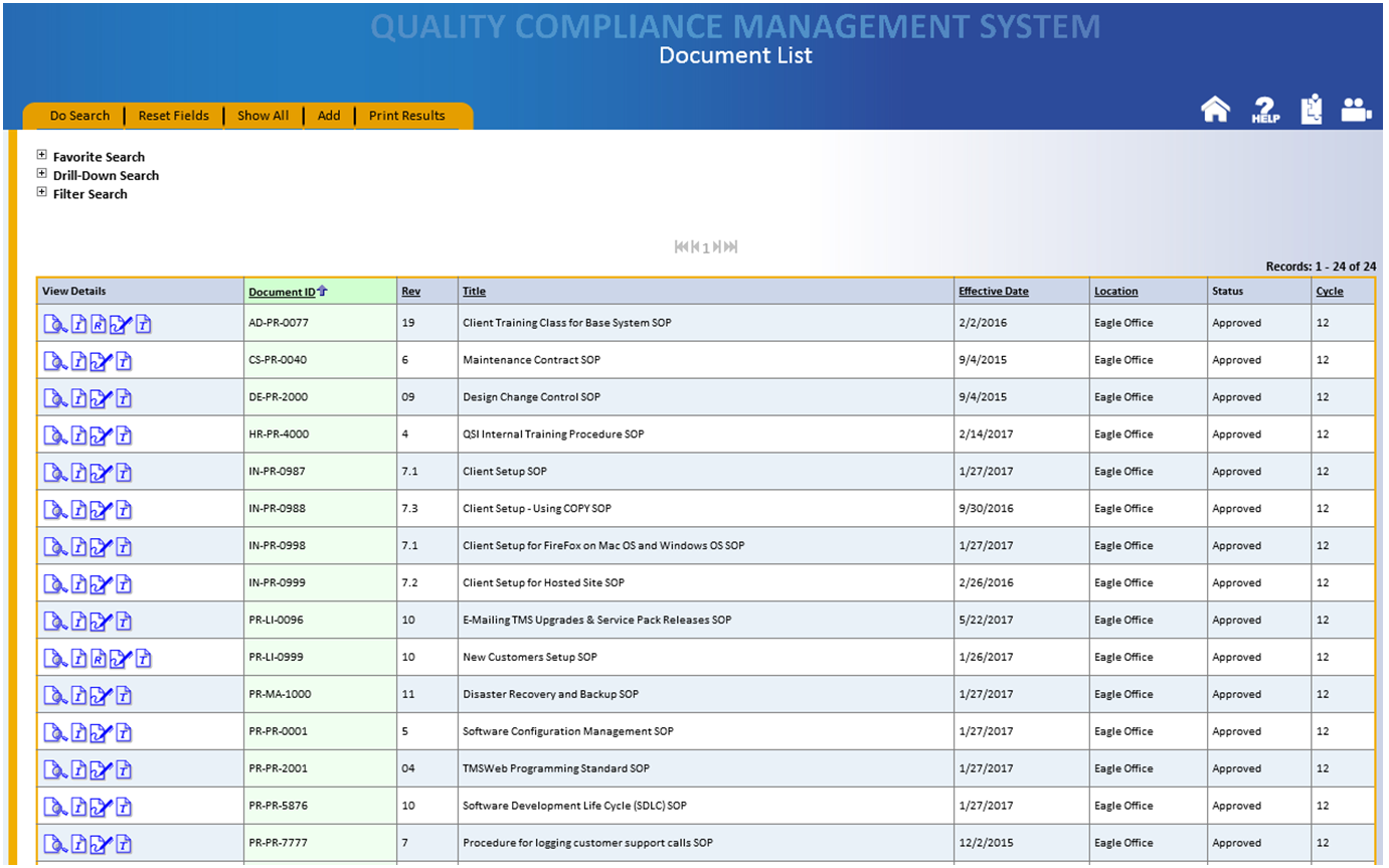 Product Features Tms Quality Compliance Software